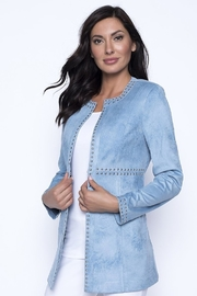 Frank Lyman Studded Open Powder Blue Jacket - Product Mini Image