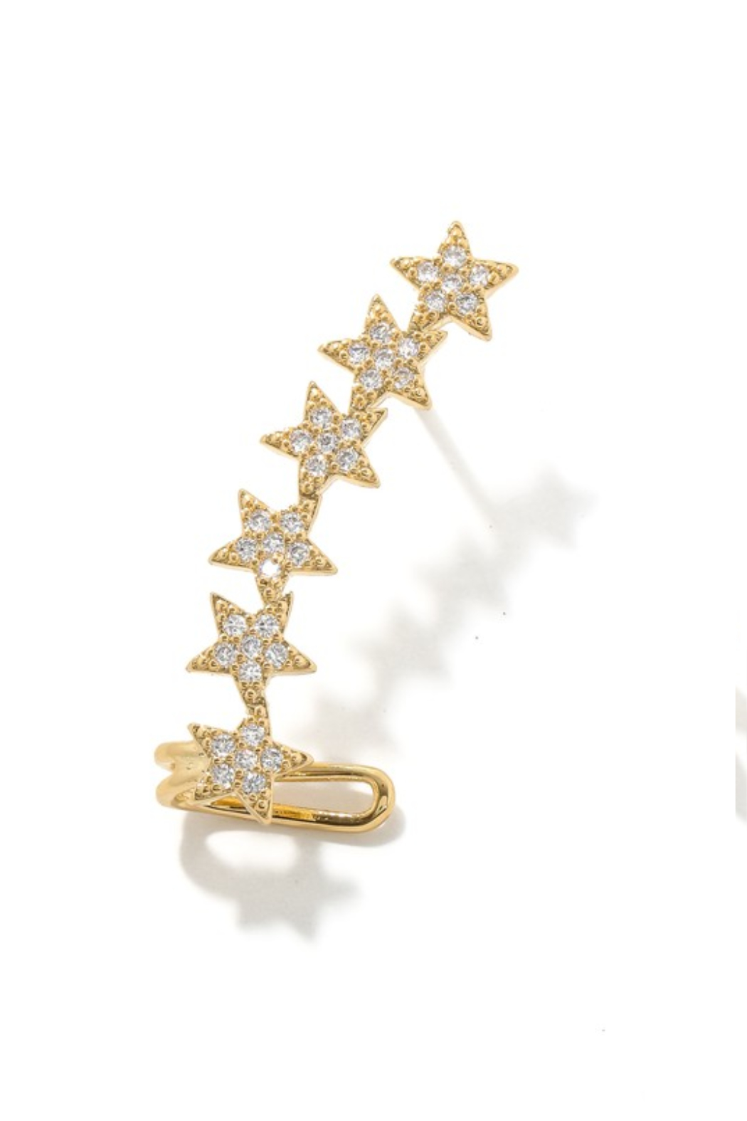 Anarchy Street Studded Star Ear Cuffs - Front Cropped Image