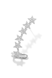 Anarchy Street Studded Star Ear Cuffs - Front cropped