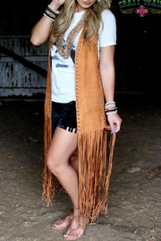 Crazy Train Studded Suede Vest - Product Mini Image