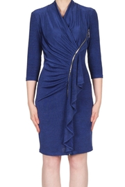 Joseph Ribkoff stunning fitted navy dress with zipper accent - Product Mini Image