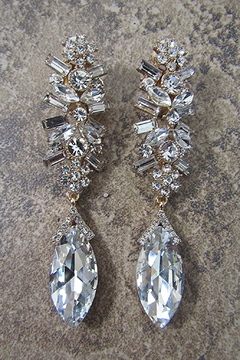 Sophia STUNNING  GEM CLUSTER CHANDELIER CLIP EARRING - Alternate List Image