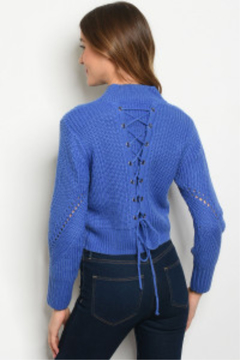Lyn-Maree's  Stunning Lace Up Back Sweater - Product List Image