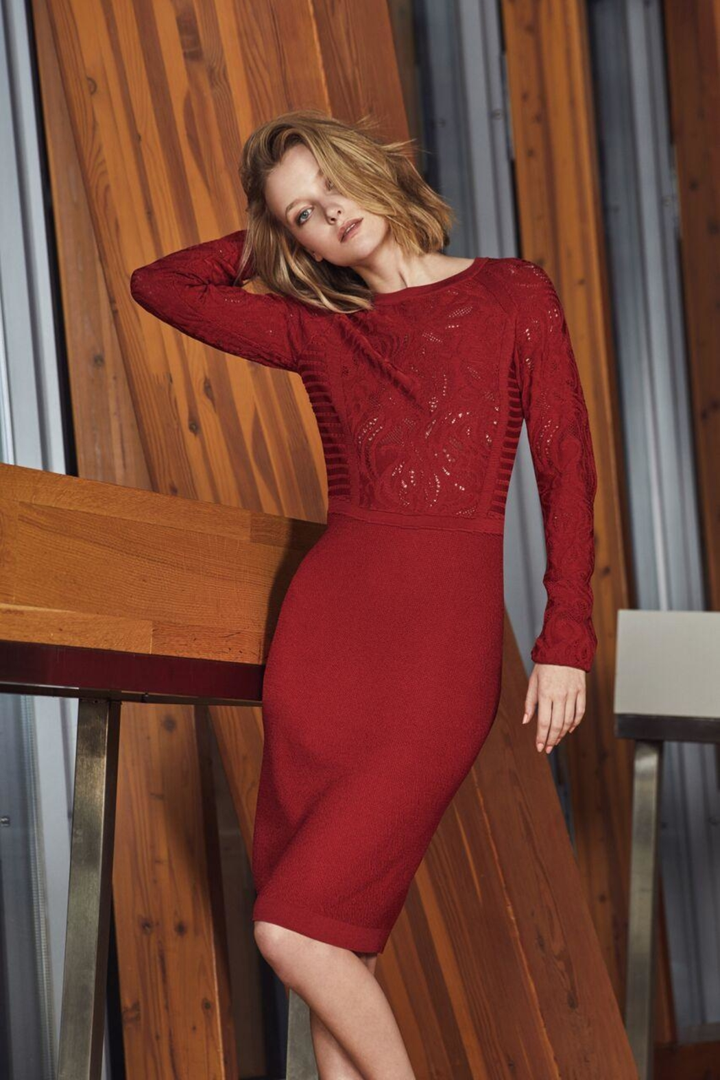 Picadilly Stunning Scarlet Dress - Front Full Image