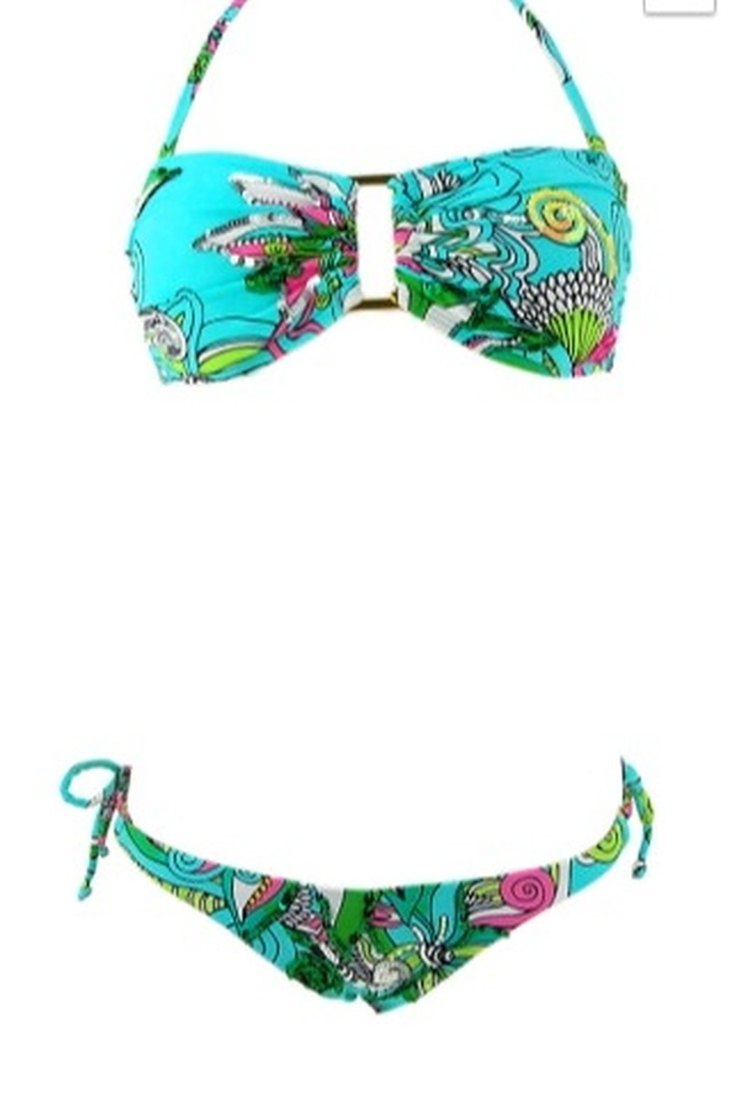 KIMBALS STUNNING TWO-PIECE BEADED BIKINI - Front Cropped Image