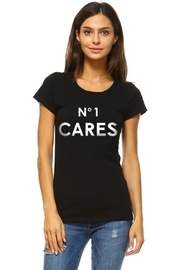 style Black 'No-One-Cares' Graphic-Tee - Product Mini Image
