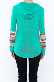 Style Rack Mint Hooded Sweater - Back cropped