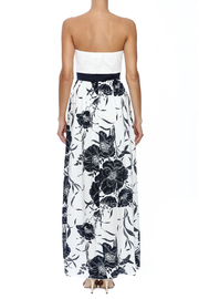 Style Rack Navy Floral Maxi - Back cropped
