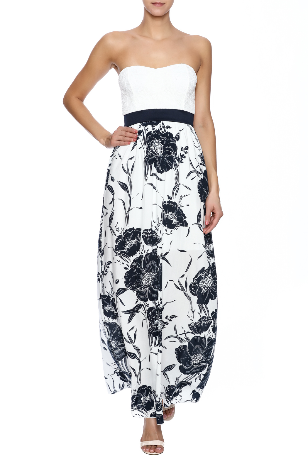 Style Rack Navy Floral Maxi - Main Image