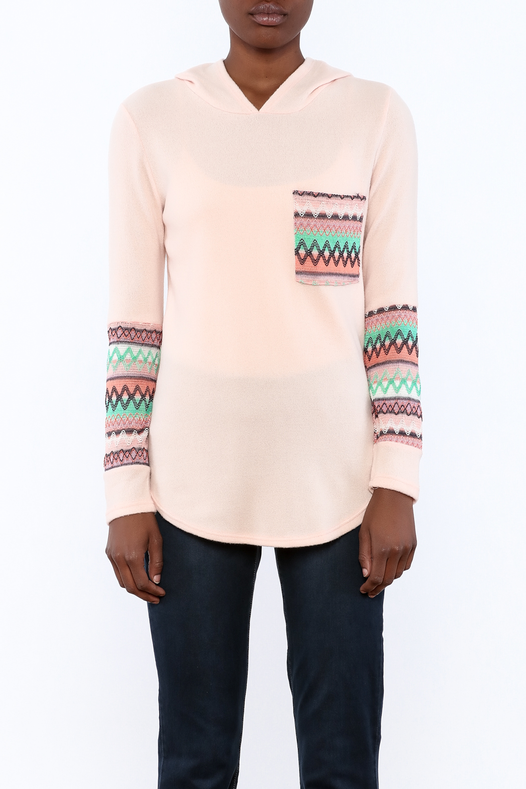 Style Rack Pink Cozy Sweater - Side Cropped Image