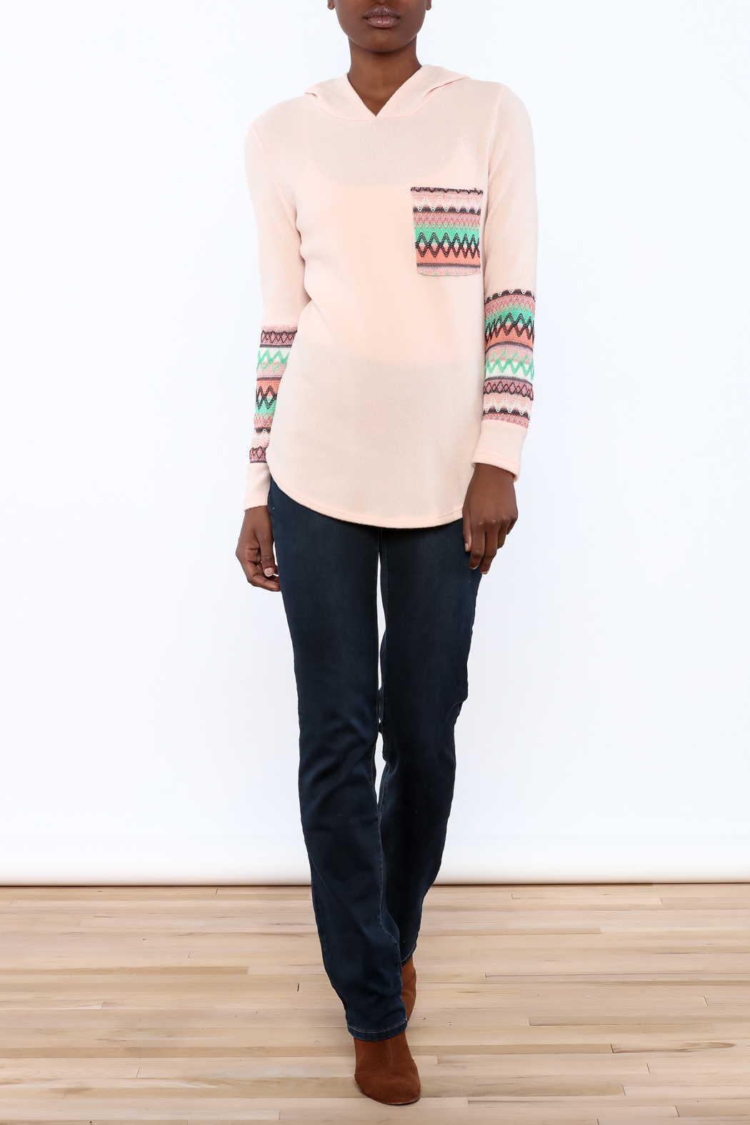 Style Rack Pink Cozy Sweater - Front Full Image