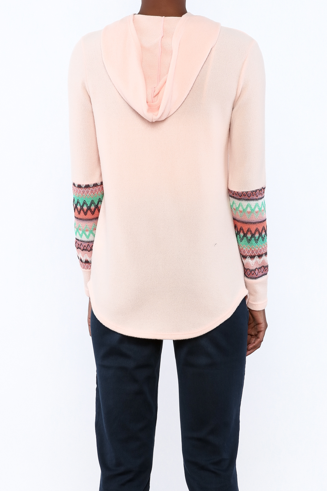 Style Rack Pink Cozy Sweater - Back Cropped Image