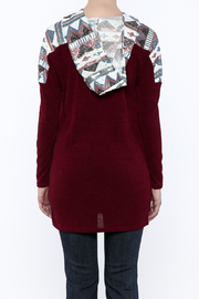 Style Rack Sequin Hooded Sweater - Back cropped