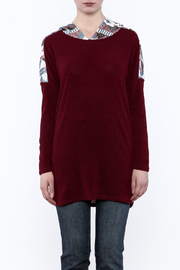 Style Rack Sequin Hooded Sweater - Side cropped