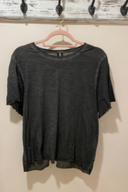 Style Reform style reform washed down tee with sporty stripes on the back - Product Mini Image