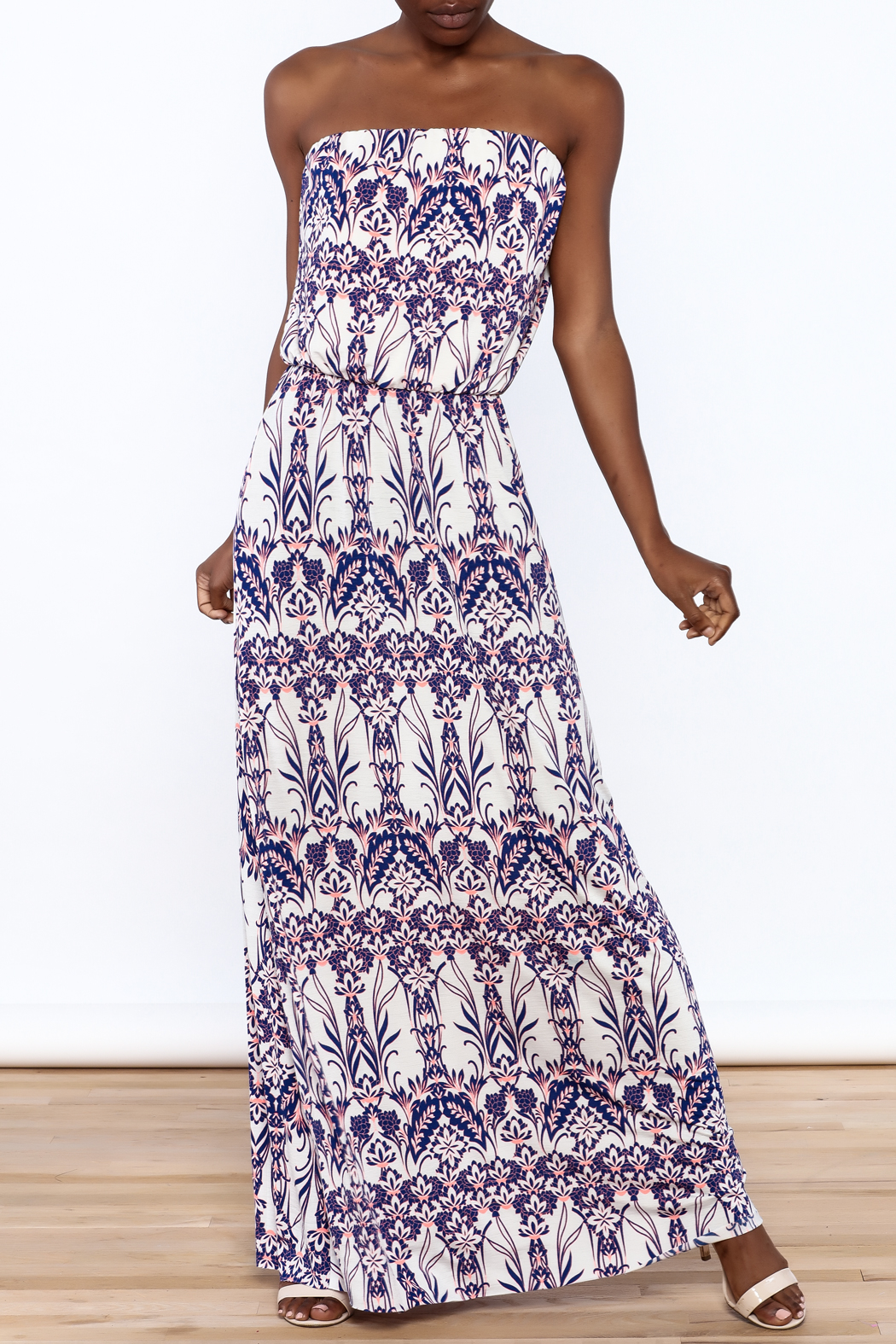 Style Rock Printed Maxi Dress - Front Full Image