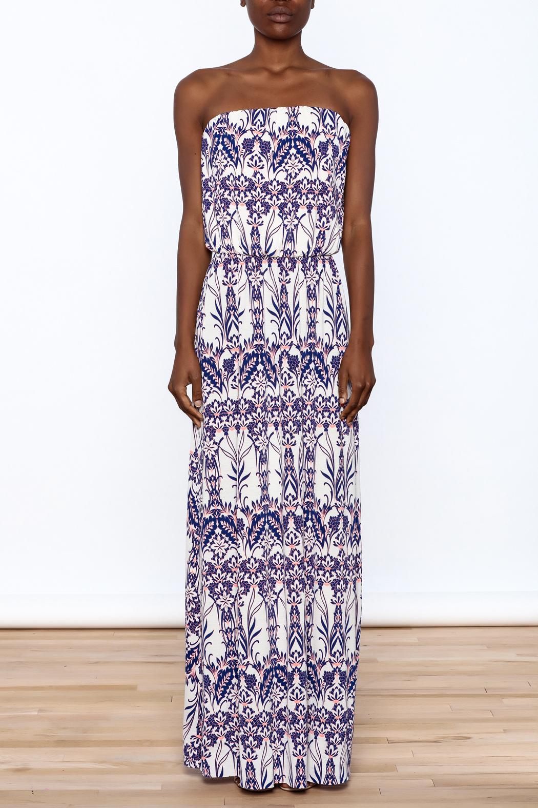 Style Rock Printed Maxi Dress - Front Cropped Image