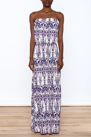 Style Rock Printed Maxi Dress - Front cropped