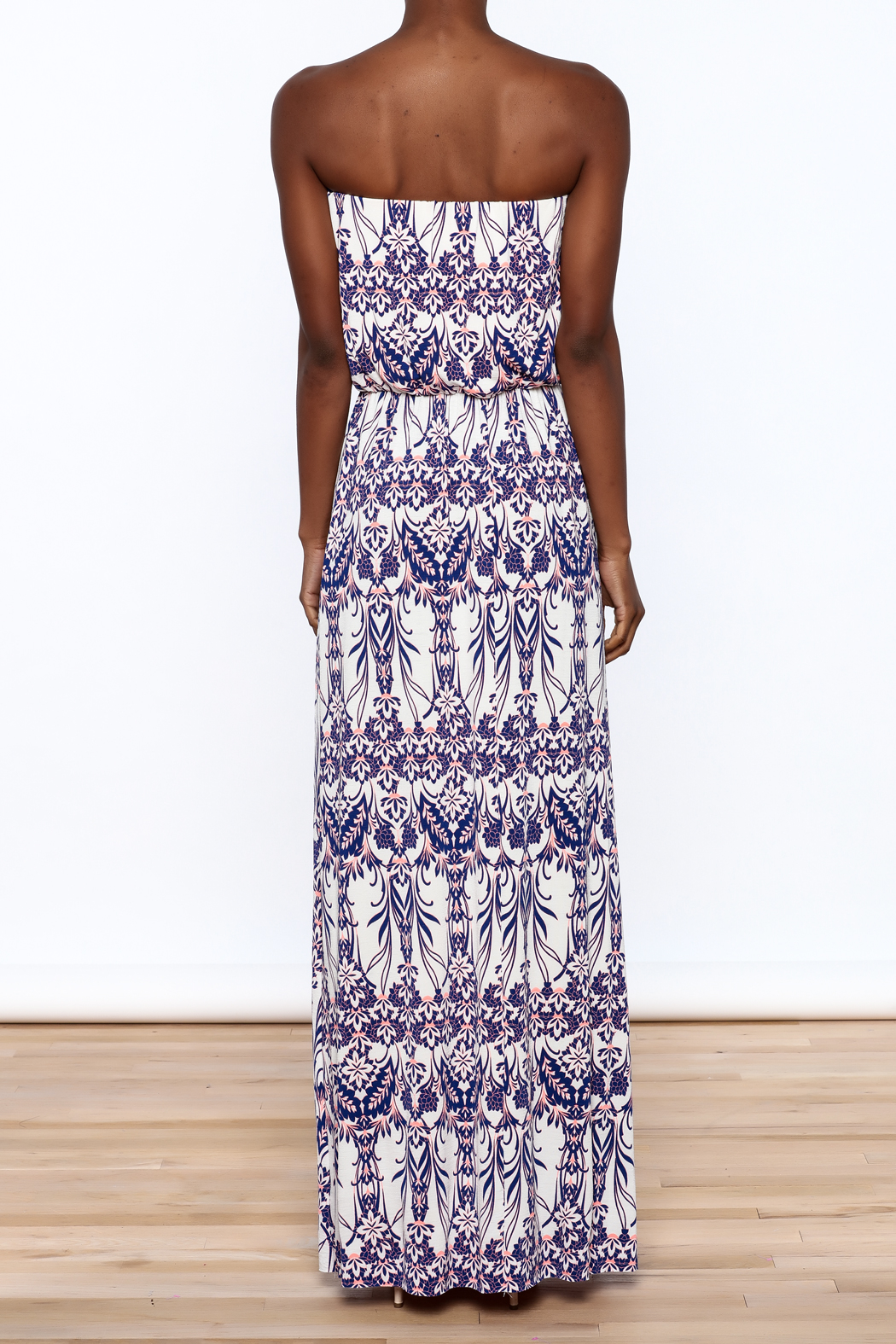 Style Rock Printed Maxi Dress - Back Cropped Image