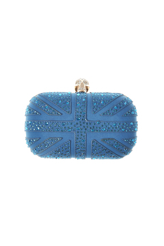 Style Trolley Cerulean Skull Clutch - Product List Image