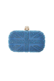 Style Trolley Cerulean Skull Clutch - Front cropped
