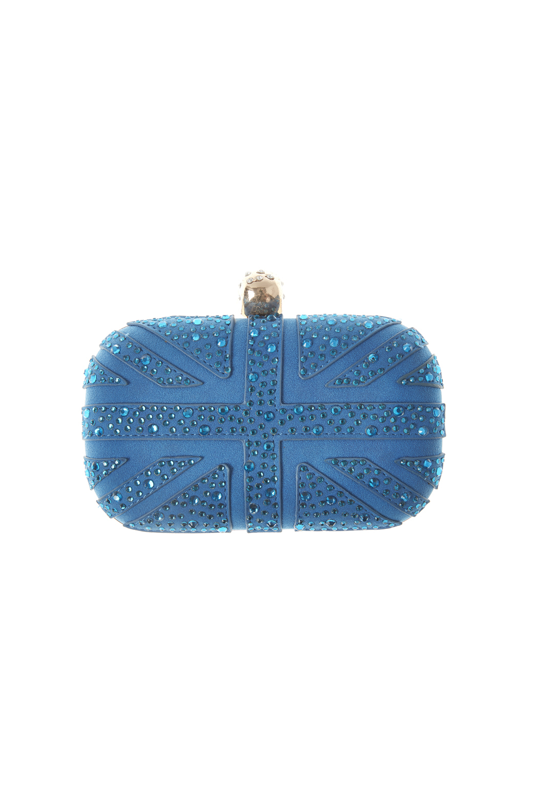 Style Trolley Cerulean Skull Clutch - Front Full Image