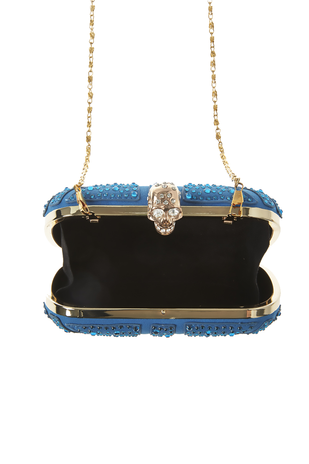 Style Trolley Cerulean Skull Clutch - Back Cropped Image