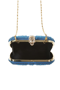 Style Trolley Cerulean Skull Clutch - Alternate List Image