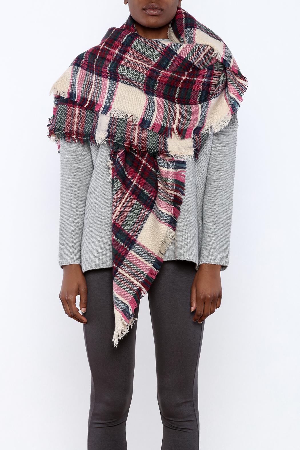 Style Trolley The Elyse Blanket Scarf - Back Cropped Image