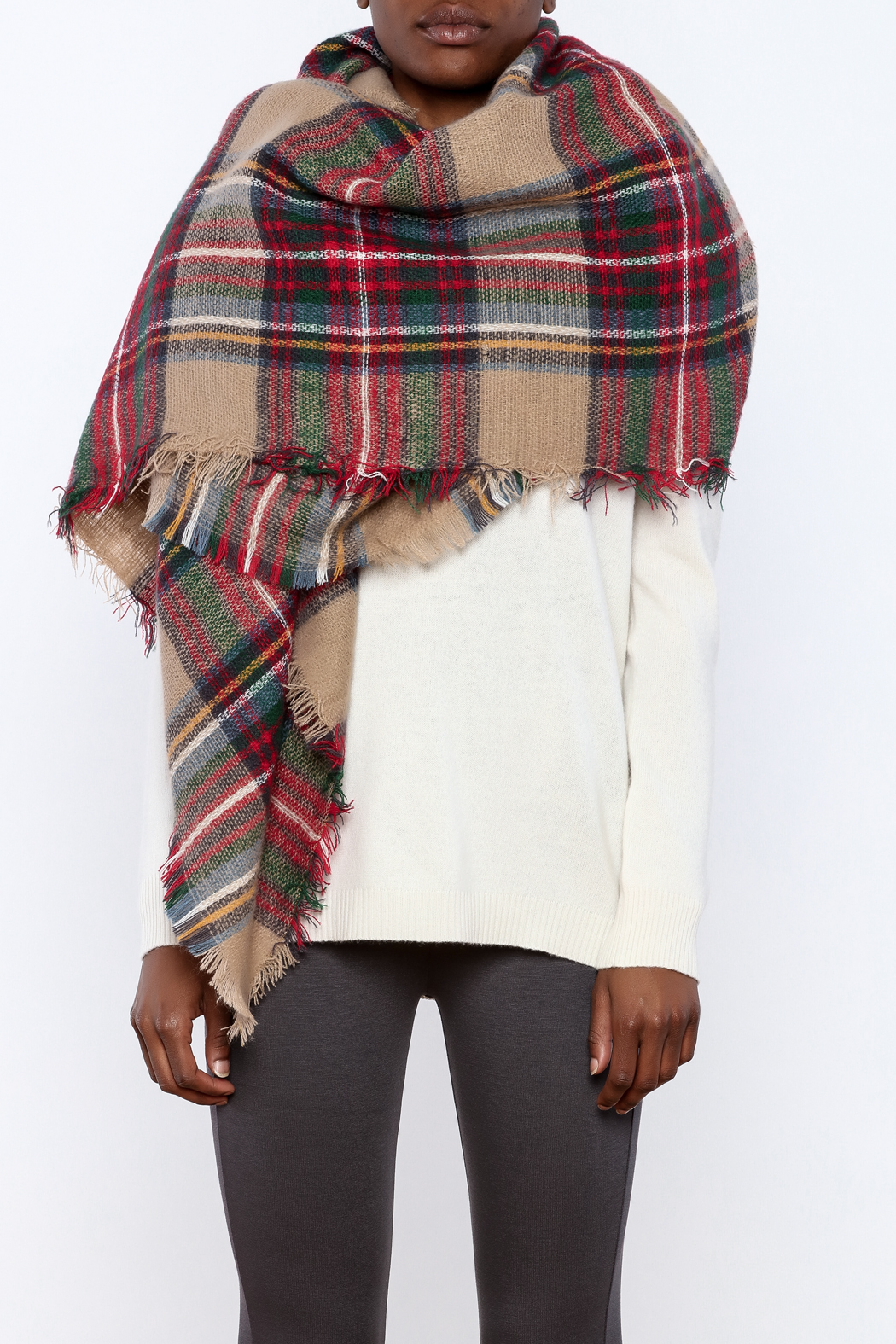 Style Trolley The Rachel Blanket Scarf - Back Cropped Image