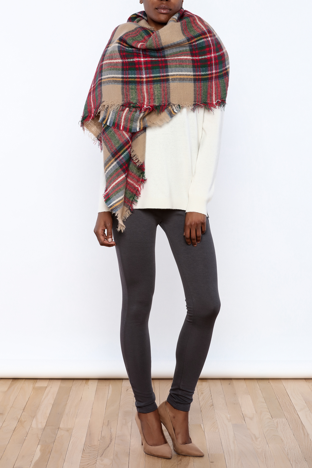 Style Trolley The Rachel Blanket Scarf - Front Cropped Image