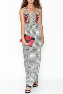 Shoptiques Product: Striped Embroidered Maxi