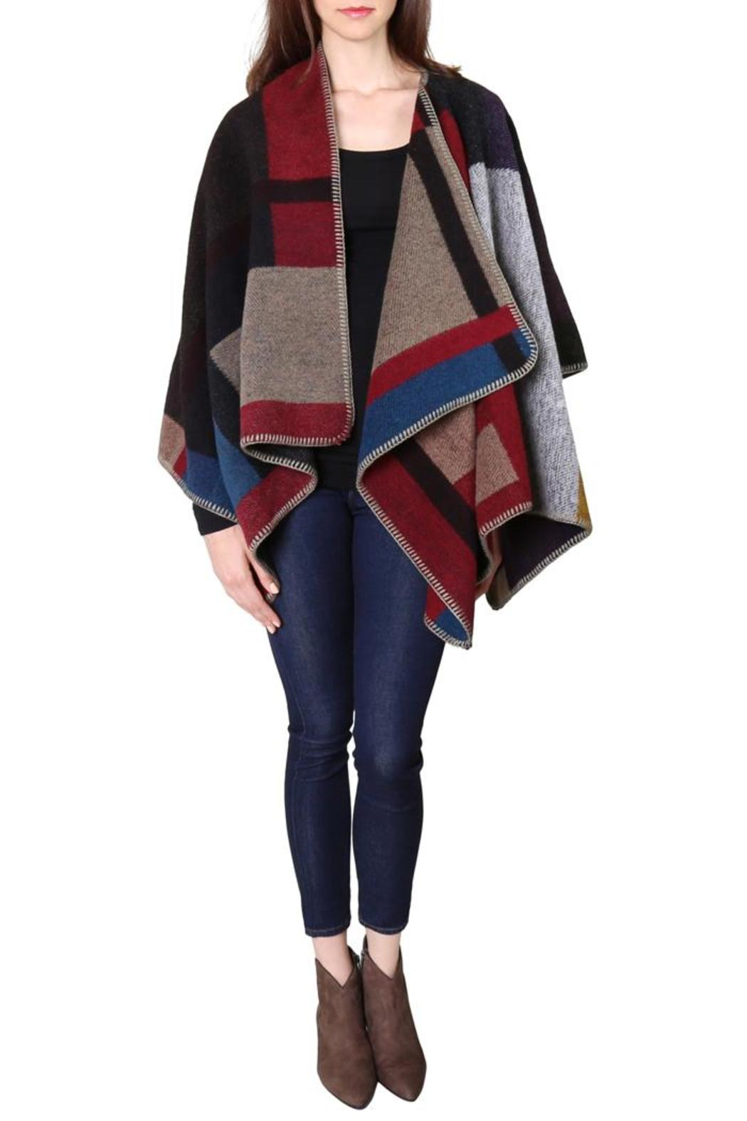 Style Loft Jane Poncho Cape - Front Cropped Image
