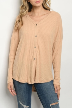 Style Moca Peach Waffle Top - Product List Image