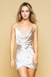 Style Rack Belted Satin Dress - Product Mini Image