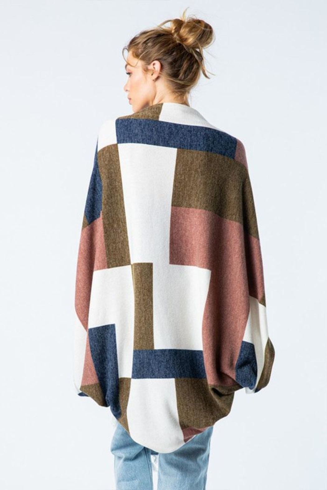 Style Rack Color Block Cardigan - Side Cropped Image