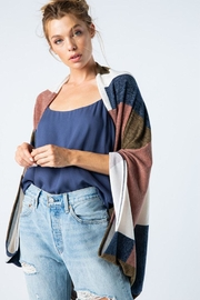 Style Rack Color Block Cardigan - Front cropped