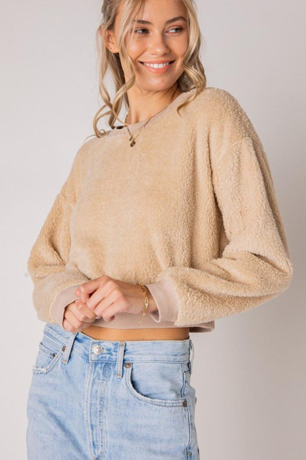 Style Rack Furry Pullover Sweater - Side Cropped Image