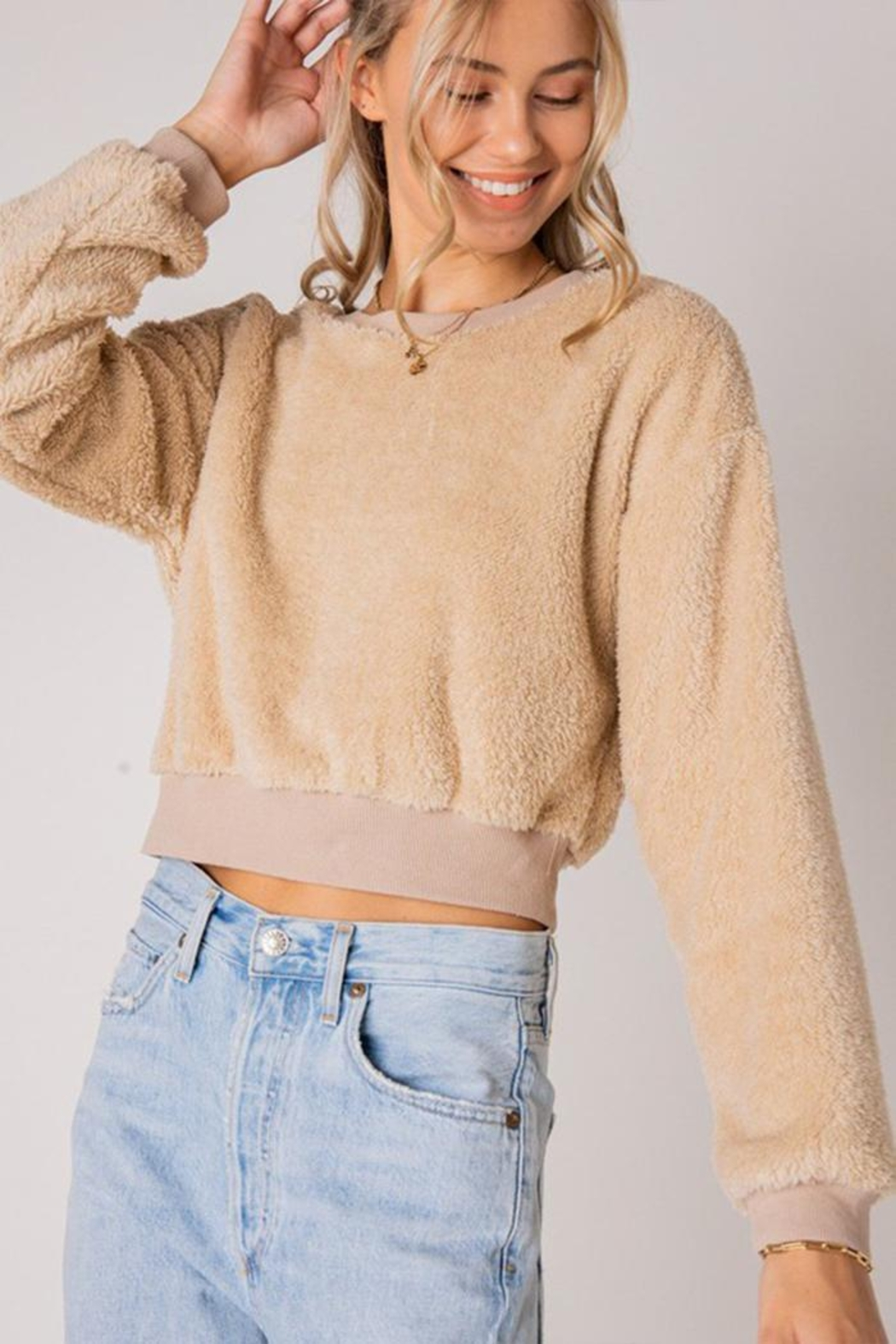 Style Rack Furry Pullover Sweater - Front Cropped Image