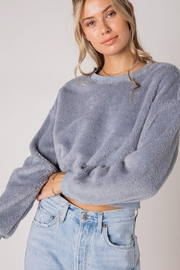 Style Rack Furry Pullover Sweater - Side cropped