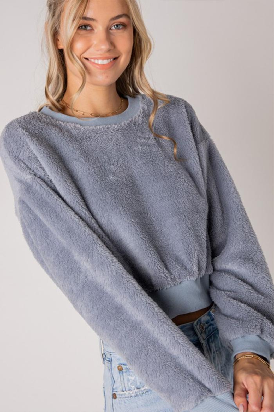 Style Rack Furry Pullover Sweater - Main Image