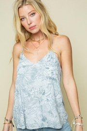 Style Rack Grey Palm Print Cami Top - Side cropped