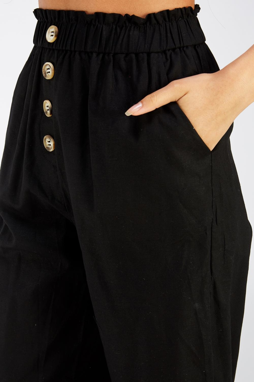 Style Rack Linen Culotte Pants - Side Cropped Image
