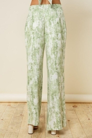 Style Rack Olive Tie Dye Flare Plants - Back cropped