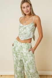 Style Rack Olive Tie Dye Flare Plants - Front cropped