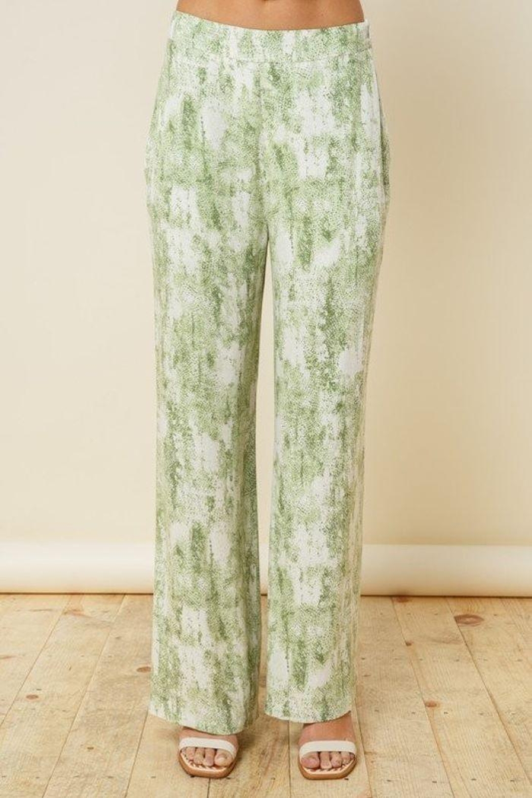 Style Rack Olive Tie Dye Flare Plants - Side Cropped Image