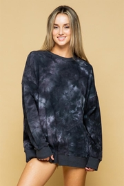 Style Rack Oversized Tiedye Sweater - Front cropped
