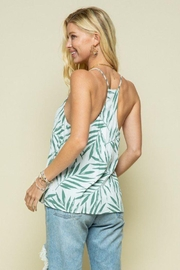 Style Rack Palm Print Cami Top - Back cropped