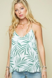 Style Rack Palm Print Cami Top - Front cropped