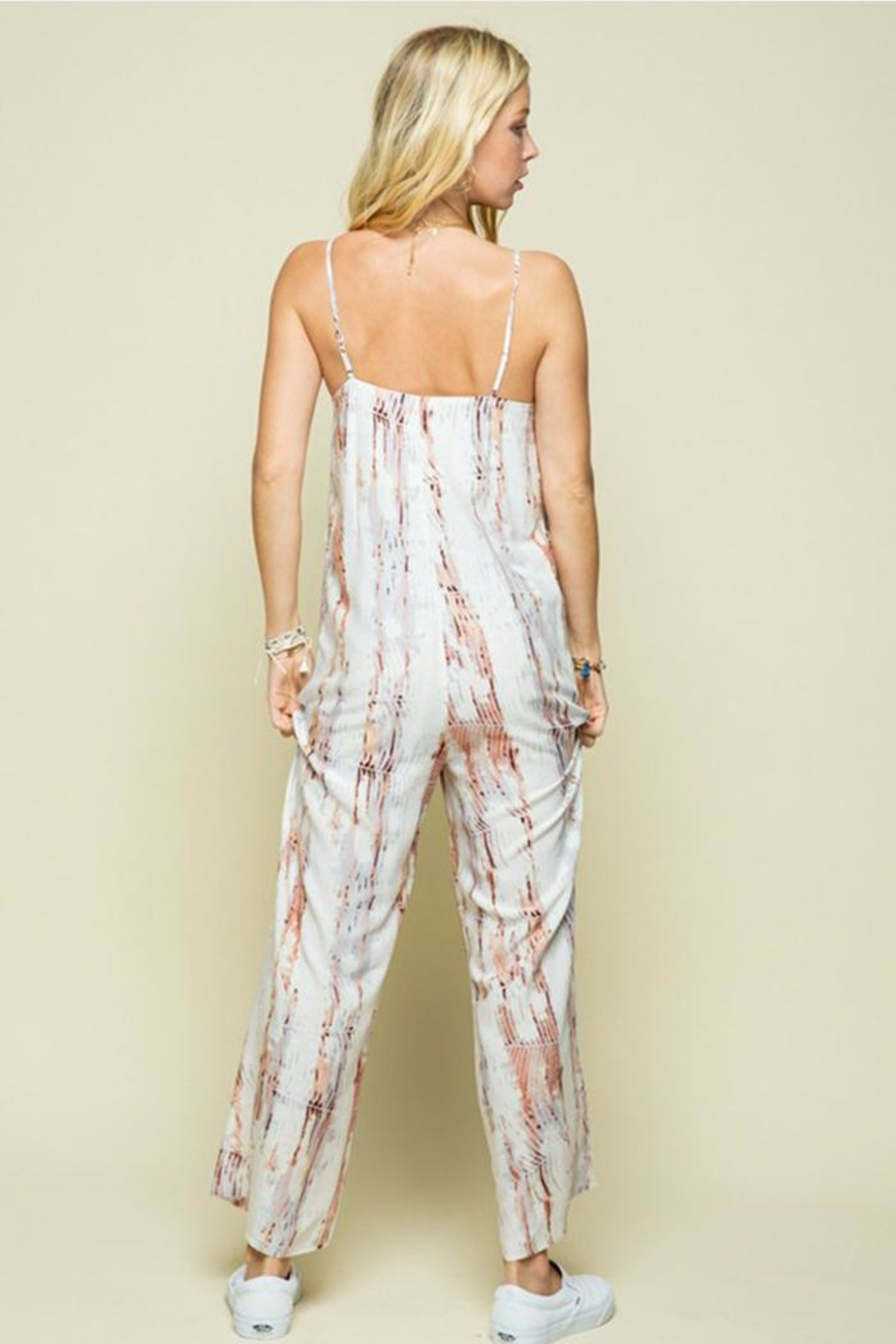 Style Rack Patterned Jumpsuit - Front Full Image